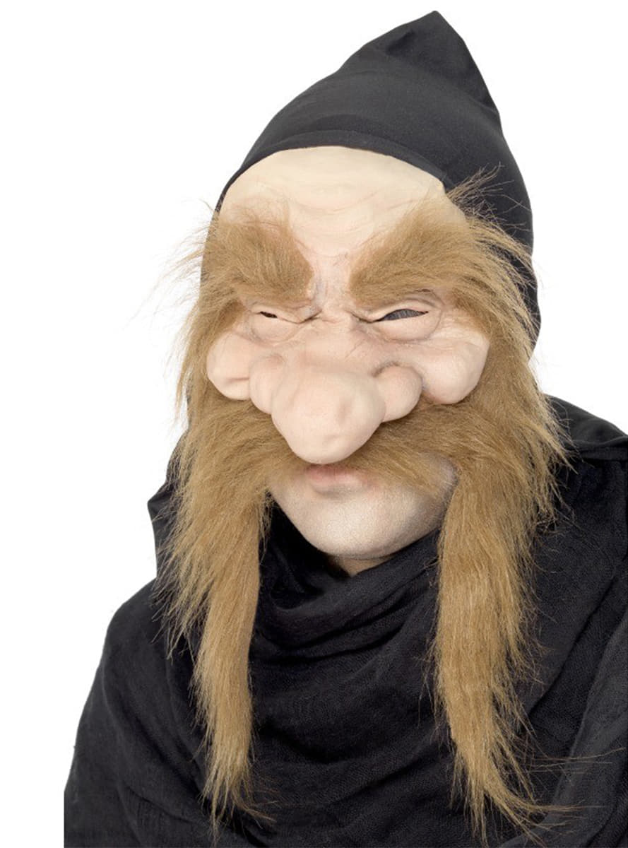 Alter Mann Maske mit Bart und Augenbrauen fr Kostm  Funidelia