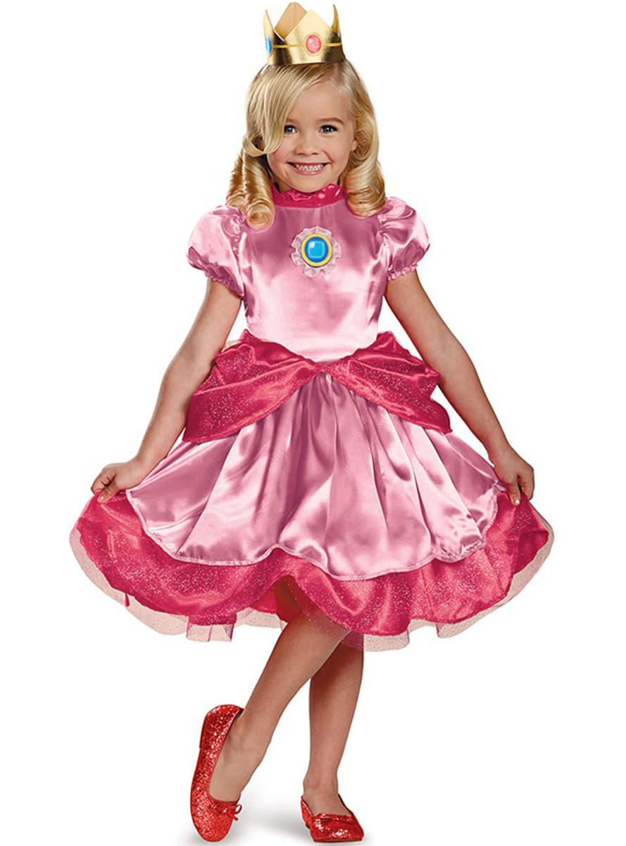 disfraz de mini princesa peach para nia detalle zoom