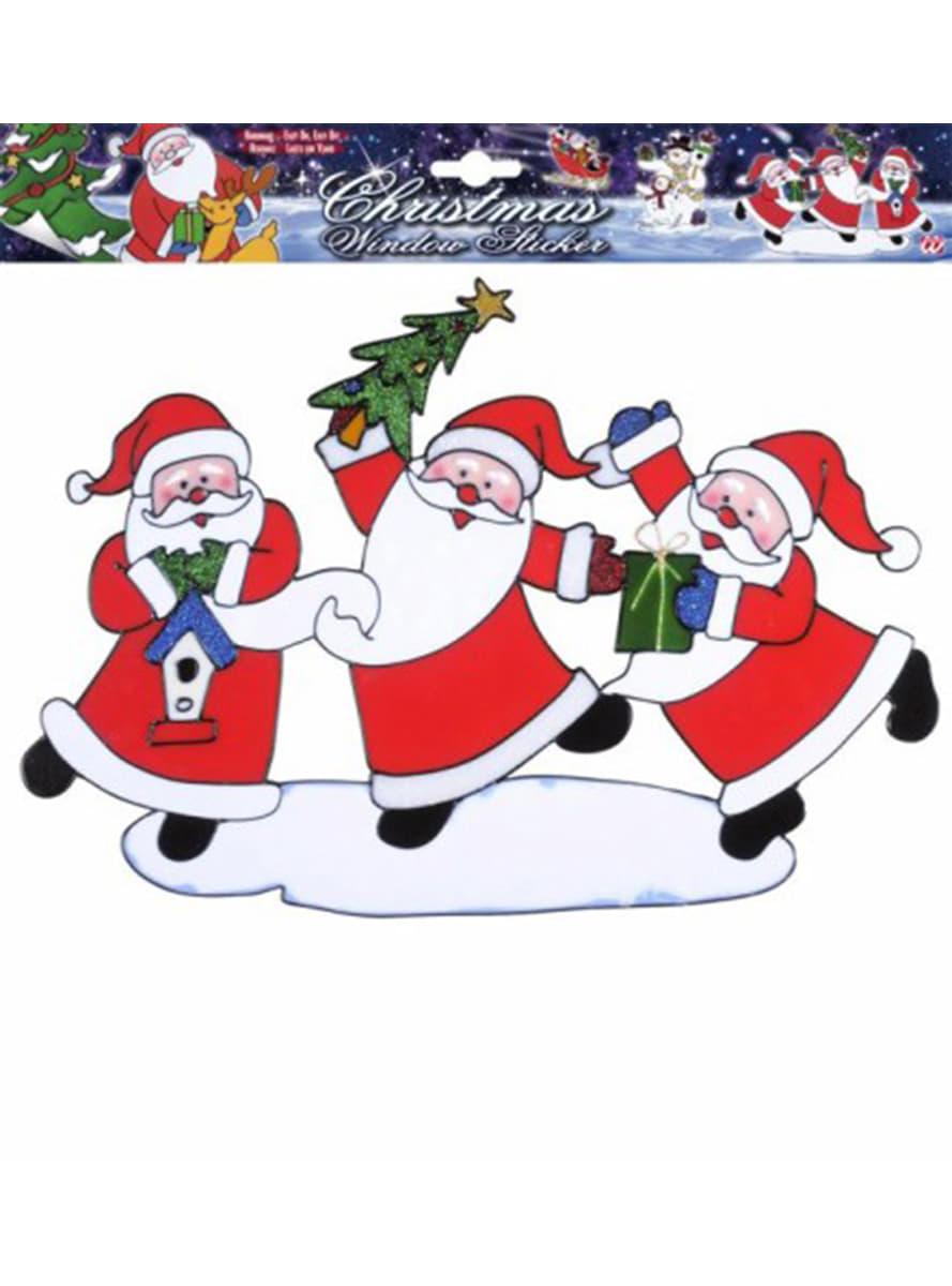 tanzende weihnachtsm nner fensteraufkleber f r partys. Black Bedroom Furniture Sets. Home Design Ideas