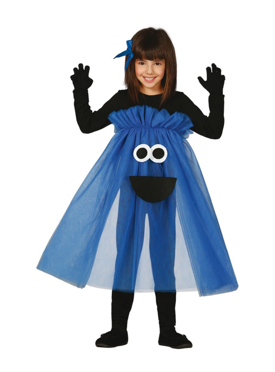 disfraz de monstruo azul tut para nia zoom