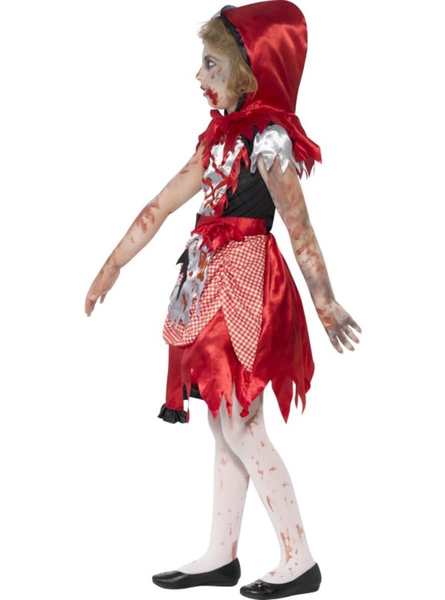 disfraz de caperucita roja zombie para nia