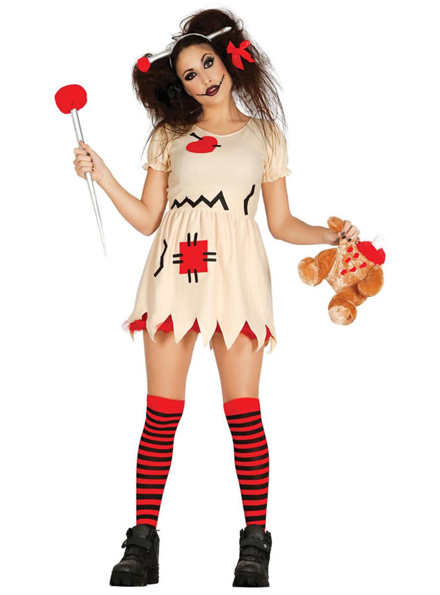 What Is Voodoo >> Disfraz de muñeca de trapo inquietante para mujer | Funidelia