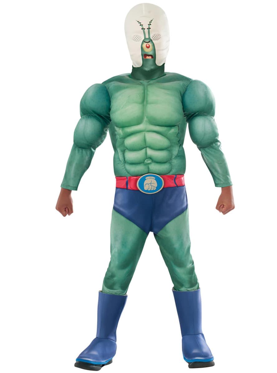 men u0027s muscular plankton spongebob squarepants movie costume