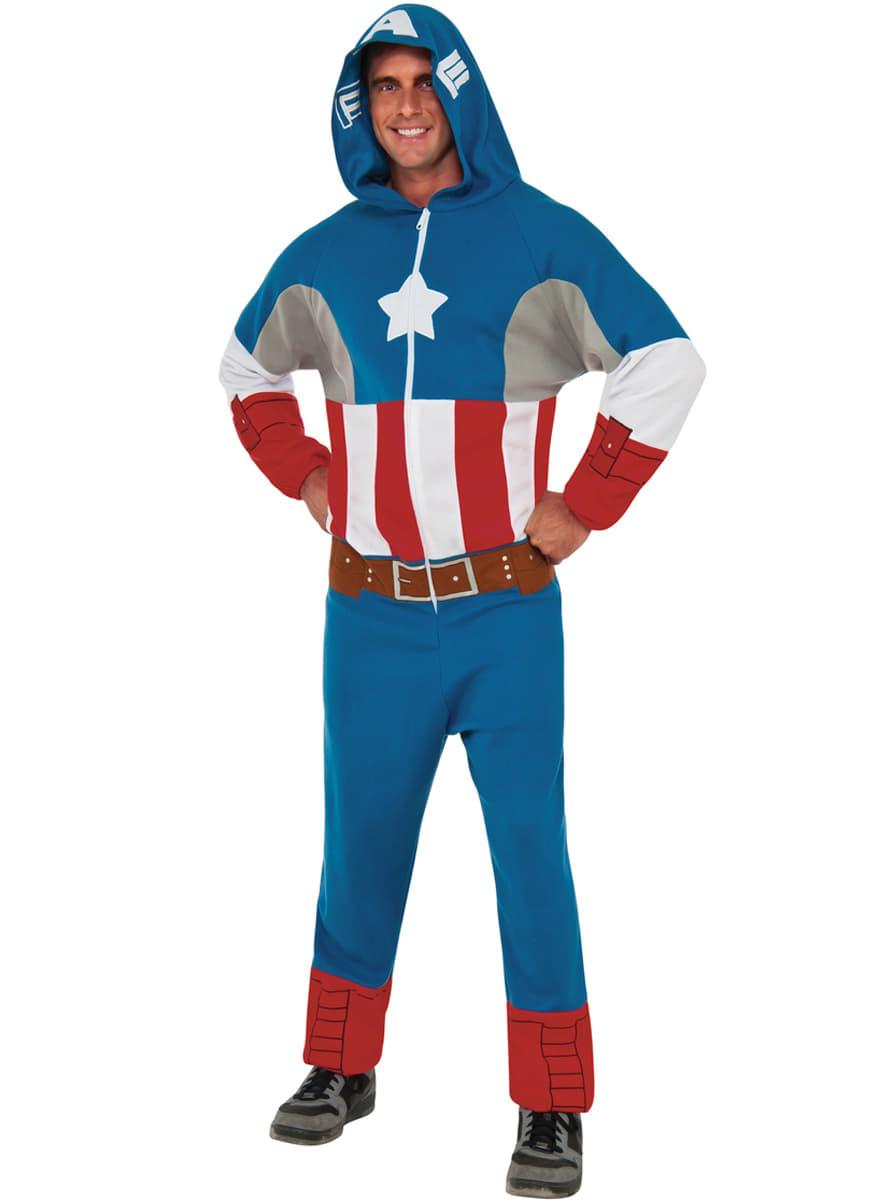 captain america overall kost m classic f r herren funidelia. Black Bedroom Furniture Sets. Home Design Ideas