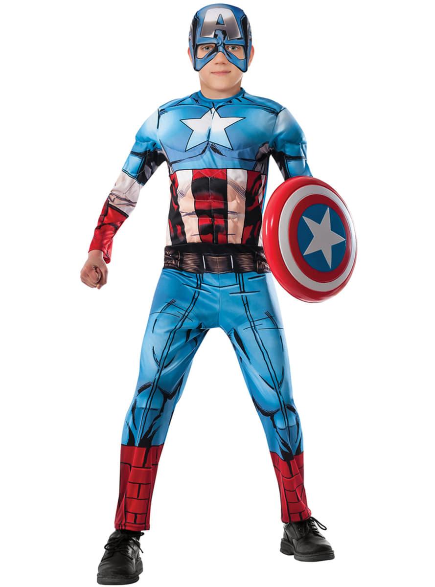 captain america avengers kost m deluxe f r jungen. Black Bedroom Furniture Sets. Home Design Ideas