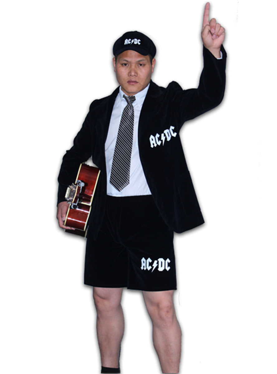 costume angus young ac dc homme acheter chez funidelia au meilleur prix. Black Bedroom Furniture Sets. Home Design Ideas